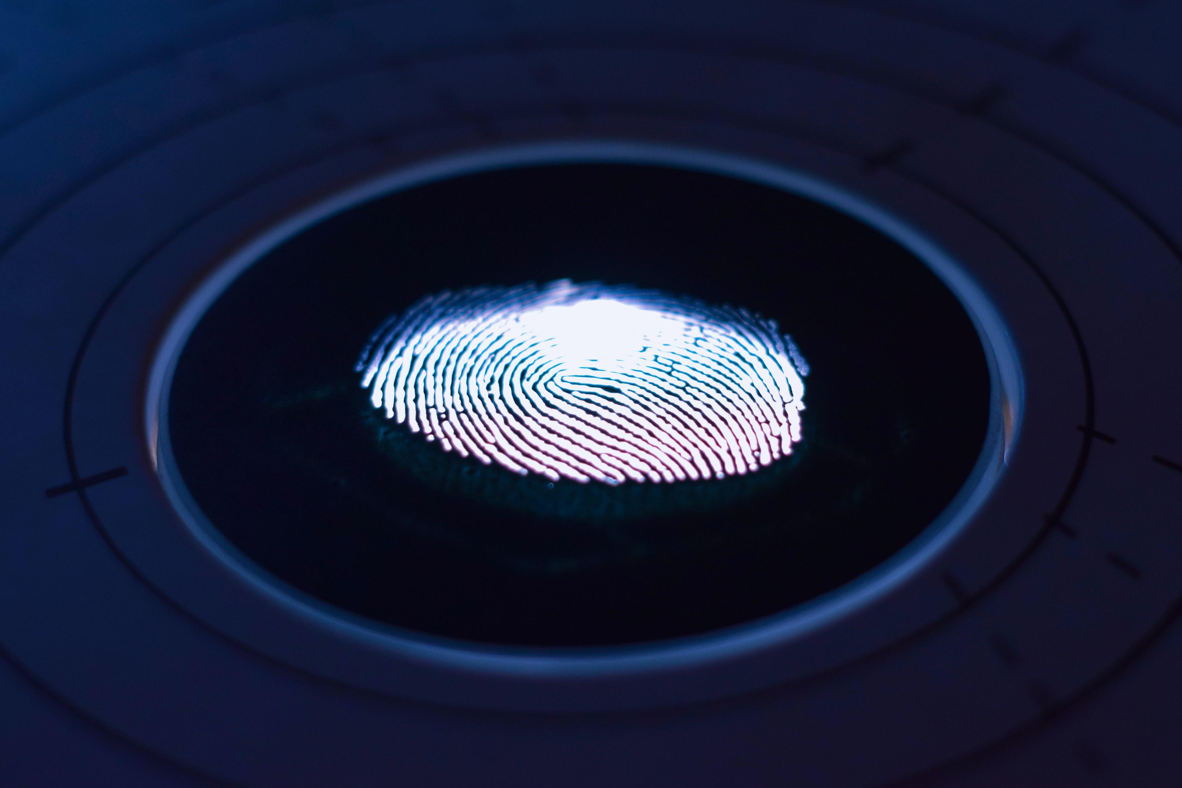 Fingerabdruck Ermittlungsverfahren